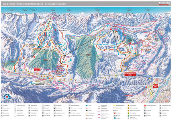 Brandnertal Ski Resort Piste Map