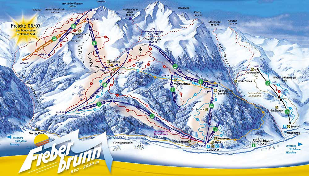 Fieberbrunn Austria  city images : Fieberbrunn Ski Area Piste Maps
