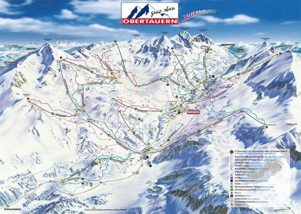 Obertauern Ski Resort Piste Map