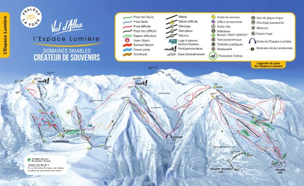 Espace Lumiere Ski Resort Piste Map