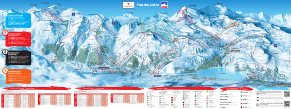 Espace Killy Ski Area Piste Map