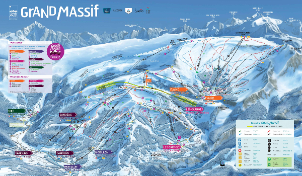 Flaine Ski Resort Piste Map