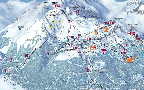 Les Arcs Ski Resort Piste Map