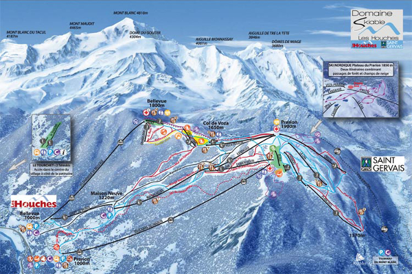 Les Houches Ski Resort Piste Map