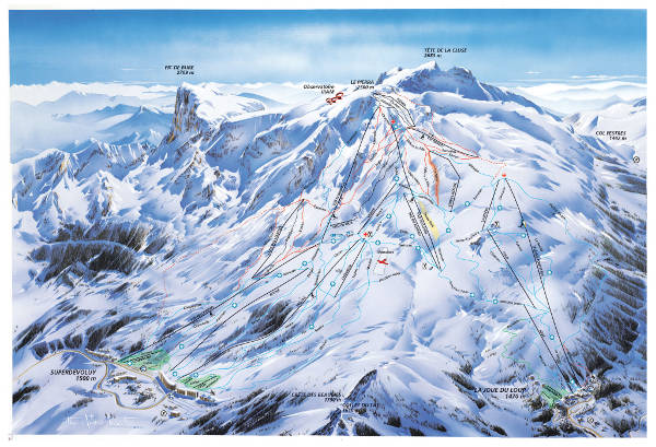 Super Devoluy Ski Resort Piste Map