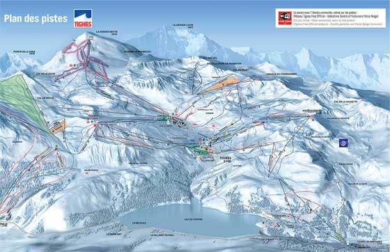 Tignes Ski Resort Piste Map