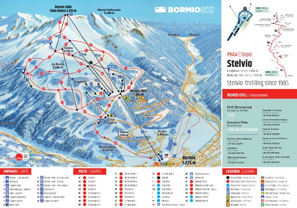 Bormio Italy  city photo : Bormio, Alta Valtellina Piste Map – Free downloadable piste maps.