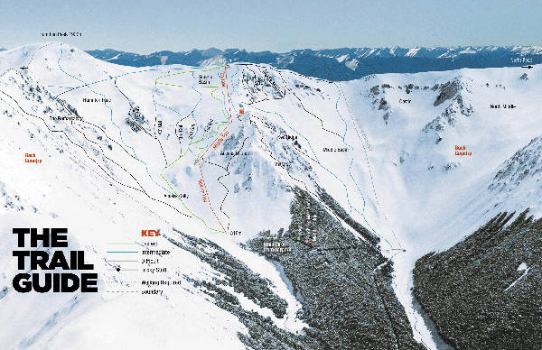 Craigieburn Ski Resort Piste Map
