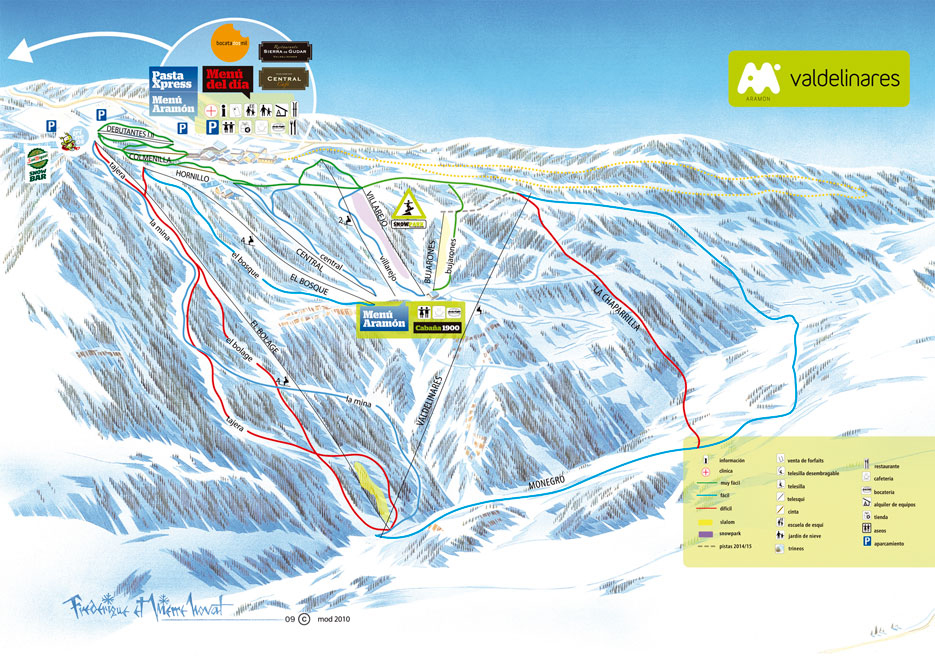Valdelinares Ski Resort Piste Map