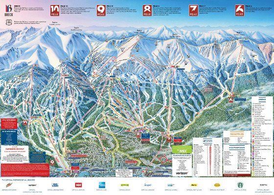 Breckenridge Ski Resort Piste Map