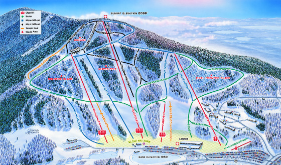 Crotched Mountain Ski Resort Piste Map