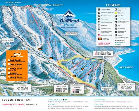 Diamond Peak Ski Resort Piste Map