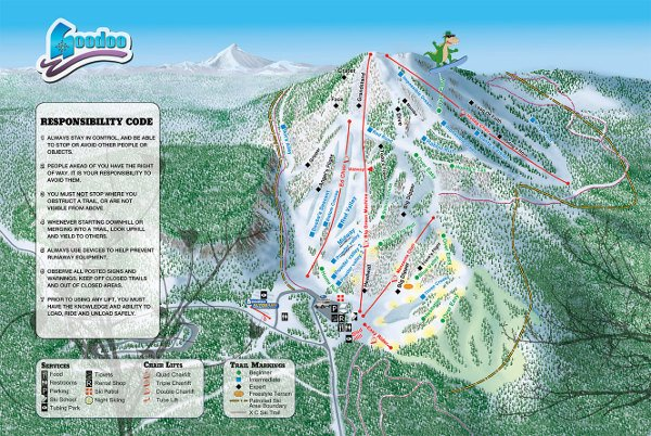 Hoodoo Ski Resort Piste Map