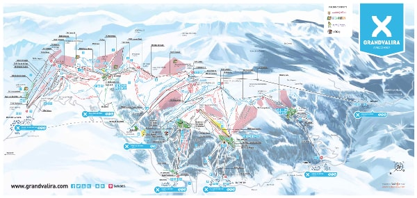 Grandvalira Ski Resort Piste Map