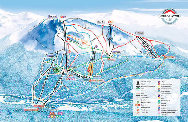 Cerro Castor Ski Resort Piste Map