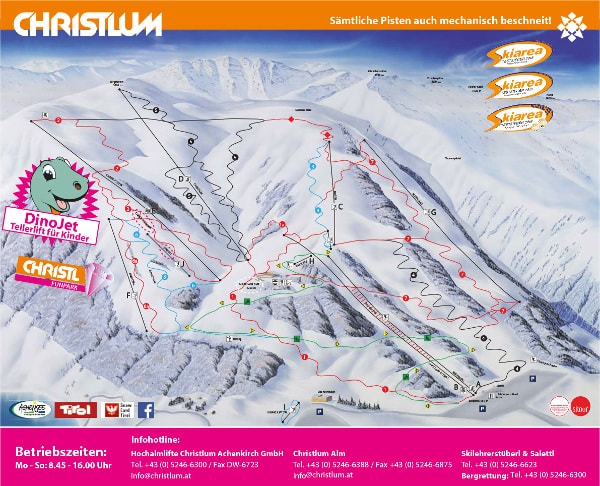 Christlum Achenkirch Ski Resort Piste Map