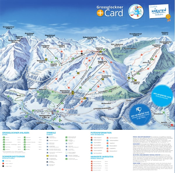 Grossglockner Ski Resort Piste Map