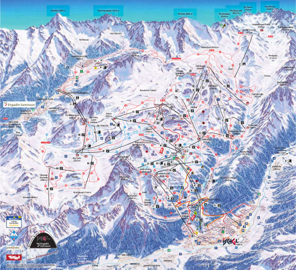 Ischgl Ski Resort Piste Map
