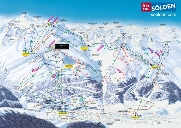 Solden Ski Resort Piste Map