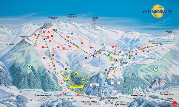 Sonnenkopf Ski Resort Piste Map
