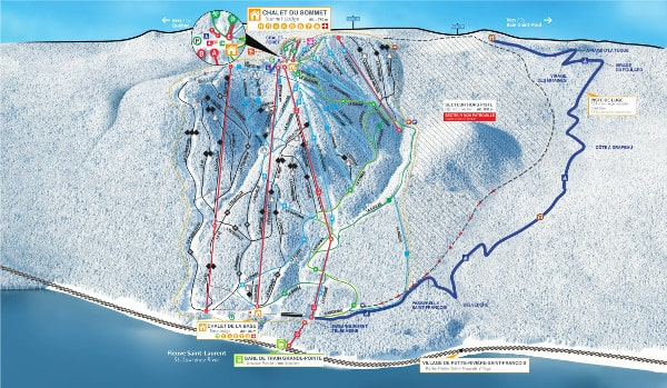 Le Massif Ski Resort Piste Map