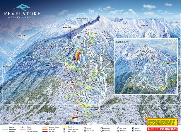 Revelstoke Ski Resort Piste Map