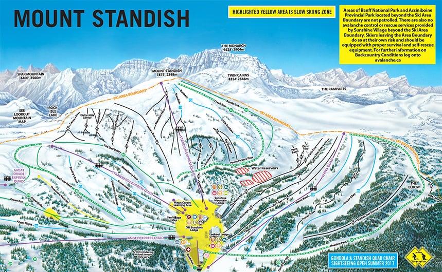 Sunshine Village Banff Piste Maps Free To Download