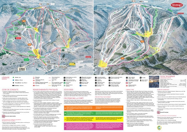 Tremblant Ski Resort Piste Map