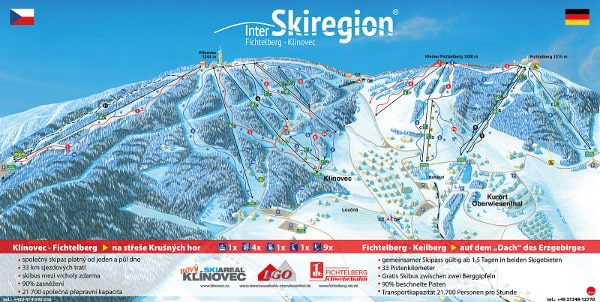 Inter Ski Region Fichtelberg Klinovec Ski Resort Piste Map
