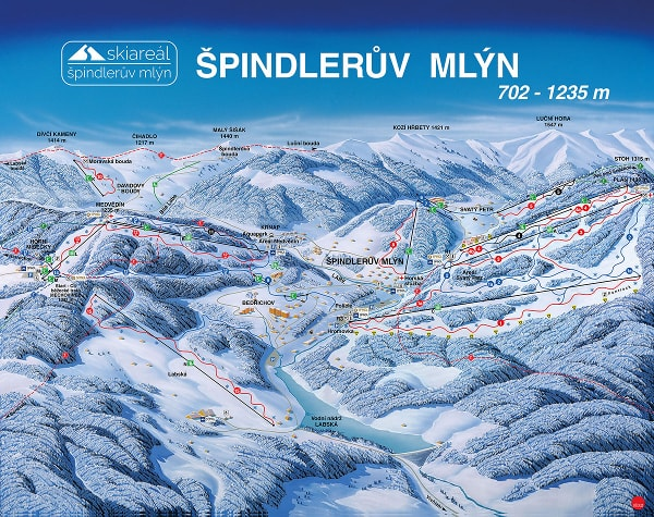 Spindleruv Mlyn Piste Map