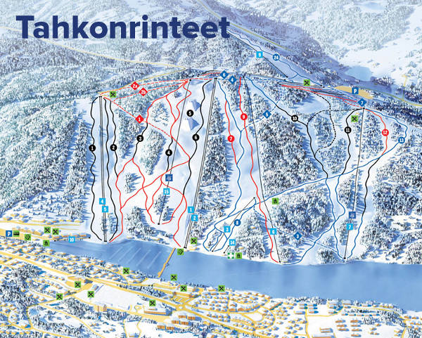 Tahko Ski Resort Piste Map