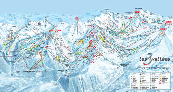 The Three Valleys Ski Resort Piste Map