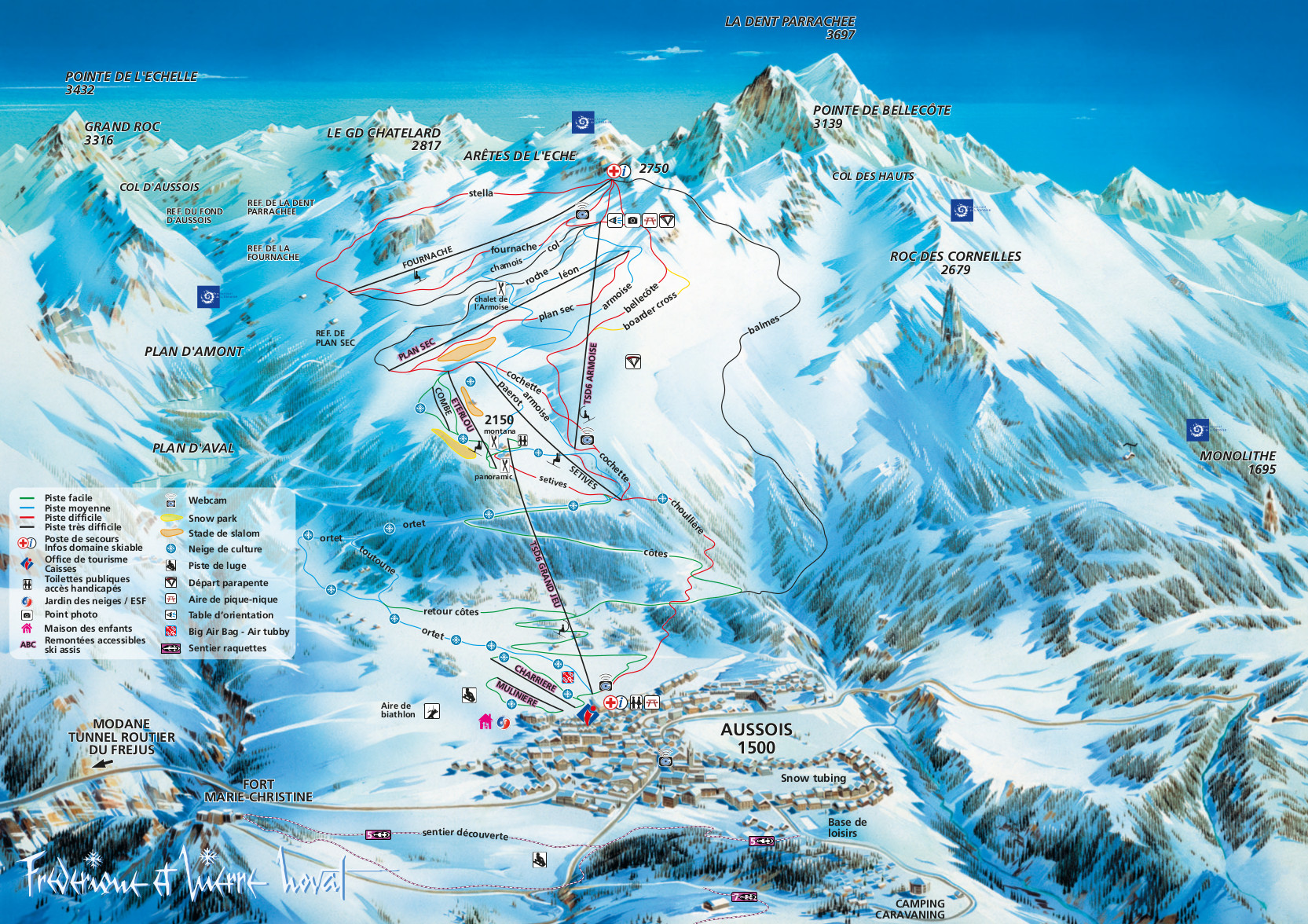 Aussois Ski Resort Piste Map