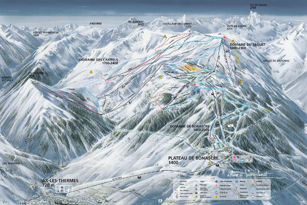 Ax Les Thermes Ski Resort Piste Map