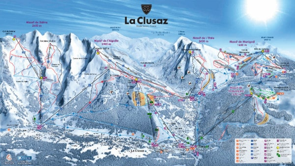 La Clusaz Ski Resort Piste Map