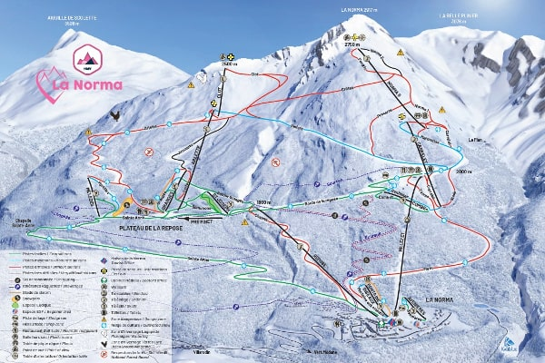 La Norma Ski Resort Piste Map