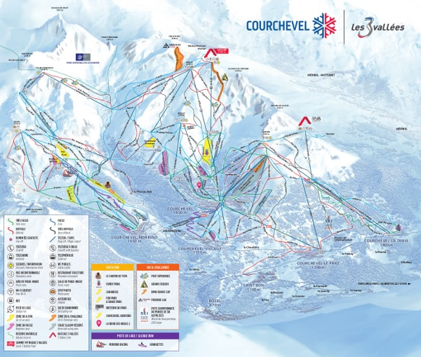 La Tania Valley Piste Map