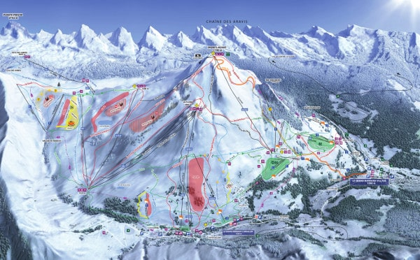 Le Grand Bornand Ski Resort Piste Map