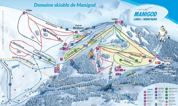 Manigod Ski Resort Piste Map