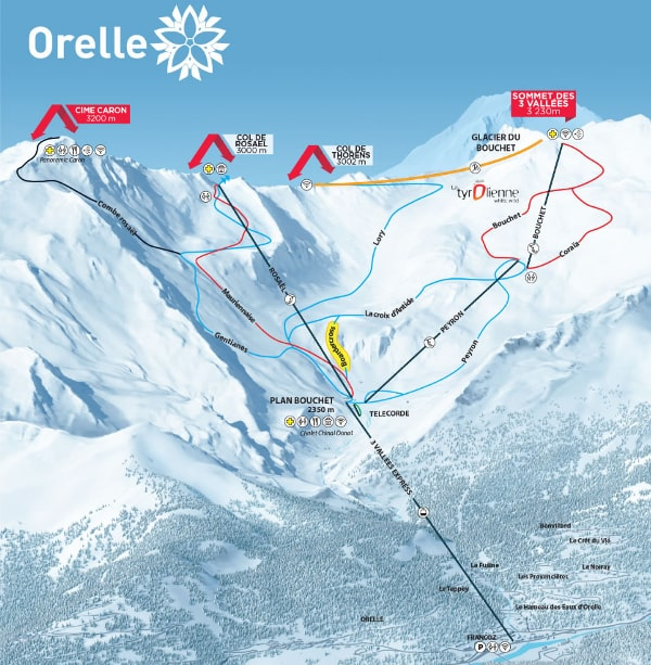 Orelle Ski Resort Piste Map