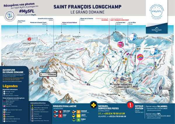 Saint Francois Longchamp Ski Resort Piste Map