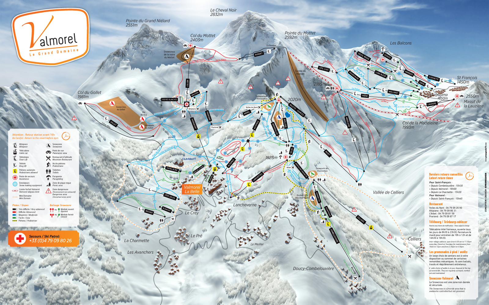 Valmorel Ski Resort Piste Map