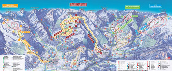 Das Hoechste Ski Resort Piste Map