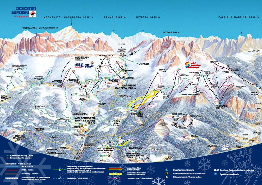 Carezza Obereggen Piste Map