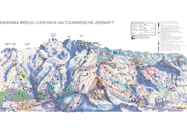 Cervinia Skiing Piste Map