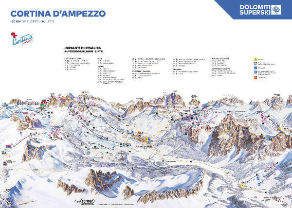 Cortina d'Amprezzo Piste Map