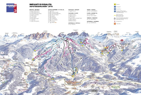 Kronplatz Piste Map