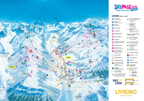 Livigno Ski Resort Piste Map