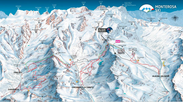 Monterosa Ski Resort Piste Map