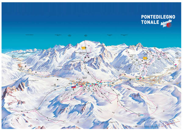 Passo Tonale Ski Resort Piste Map